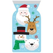 Cello Zip Close Bags Christmas Characters 12s (PC339333)