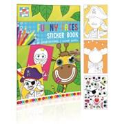 Funny Face Sticker & Colouring Book (CFAC)