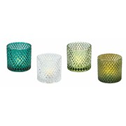 4 Assorted Tea Light Holders (CH191128)