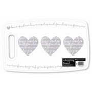 Chopping Board Heart Design 37cm (AM4148)