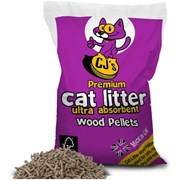 Cjs Premium Wood Pellet Cat Litter 30l