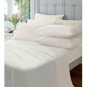 Cream Flat Flannelette Sheet 145gsm Single (CL SFL/CR 39950)