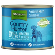 Natures Menu Country Hunter Dog Food Cans Mackerel & Chicken 600g (CHCMC)