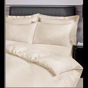 Satin Stripe Duvet Set Cream S/king (SS SKQS/CR 36570)