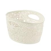 Curver Victoria Lace Storage Basket White 7ltr (219794)