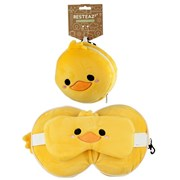 Plush Duck Travel Pillow & Mask 17cm (CUSH225)