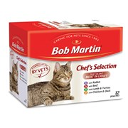 Bob Martin Meat in Gravy Chefs Selection Cat Food 12s 85g (D1008)