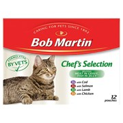Bob Martin Meat in Gravy Chefs Selection Cat Food 12s 85g (D1009)