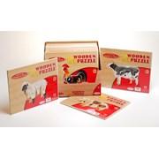 Ackerman Wooden 3d Farm Animals (D10097)