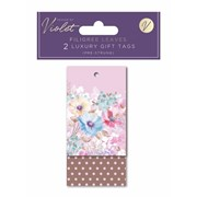 Design By Violet Filigree Leaves Gift Tags 2pack (DBVED-3-GT)
