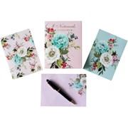 Design By Violet Vintage Floral Notecards 8s (DBVED-37-8NC)