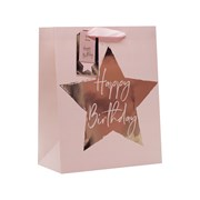 Design By Violet Pink Star Gift Bag Lge (DBVED-46-L)