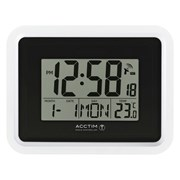 Delta Rc Lcd Wall/desk Clock Black (74573)