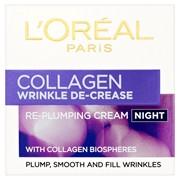Loreal Collagen Wrinkle De-crease Night Cream 50ml (430607)