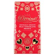 Divine Red Sachet Box Of Smooth Milk Choc Hearts 80g (DV700)