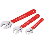 Draper Red Line 3 Piece Adjustable Wrench Set (67642)
