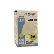 Ecolight 5w Led B15 Golf Light Bulb Frosted (EC79144)
