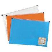 Ecoeco A4 50% Recycled Expanding Zip File-3 Colour (eco070)