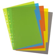 Ecoeco A4 50% Recycled Index File Dividers 5 Part (eco071)