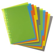 Ecoeco A4 50% Recycled Index File Dividers 10part (eco073)