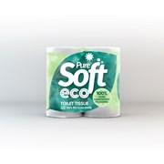 Puresoft Eco Toilet Rolls White 4s (EC04)