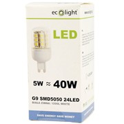 Ecolight 5w Led 5000k G9 Light Bulb (EC67720)