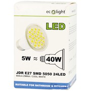 Ecolight 5w Led E27 Jdr Cool White Light Bulb (EC67715)
