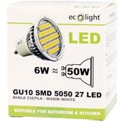 Ecolight 6w Led Gu10 3000k Light Bulb (EC67703)