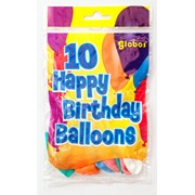 Fantasia Balloons Happy Birthday 10s (GLO/HB)