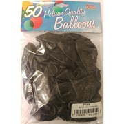 """Fantasia Shiny Black Balloons 50s 12"""" (PT259)"""