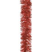 Festive Tinsel Chunky Cut Red 200cm x 15cm (160945)