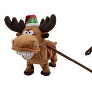 Festive Walking Musical Reindeer (P017888)