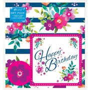 Floral 2sheet Wrap/tag/card Set (Y8GMS905)