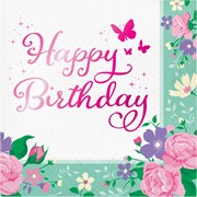 Floral Fairy Birthday Lunch Napkins 16s (PC340161)
