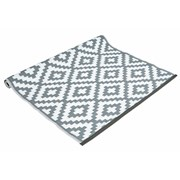 Grey And White Rug Plastic 90x150c (FN197760GY)