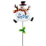 Fountasia Glass Snowman Pot Stick 55cm (77401)