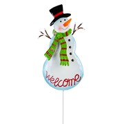 Fountasia Snowman Welcome Pot Stick 64cm (77403)