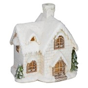 Fountasia Snowy White House With Lights 35cm (78064)