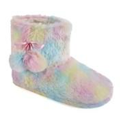 Ks Ladies Plush Rainbow Bootee (FT1311)