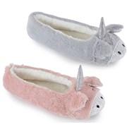 Ks Ladies Unicorn Ballet Slippers (FT1357)
