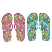 Ladies Floral Print Flip Flop (FT1496)