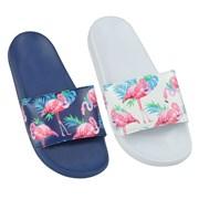 Ladies Flamingo Print Pool Slide (FT1513)