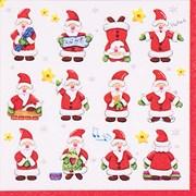 Funny Santas Lunch Napkin 20s (PJ303606)