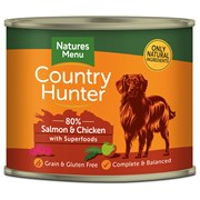 natures:menu Country Hunter Dog Food Cans Salmon & Chicken 600g (NMCSR)