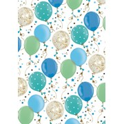 Blue Balloons Gift Wrap (G32219)