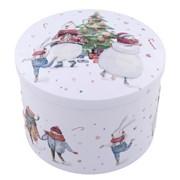 Gardiners White Xmas Snow Scene Tin Of Vanilla Fudge 200g (GD550)