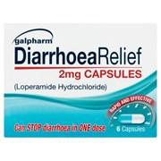 Galpharm Diarrhoea Relief Caps 6s (GDC)
