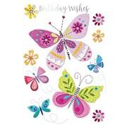 Birthday Butterflies Card (GH0965W)