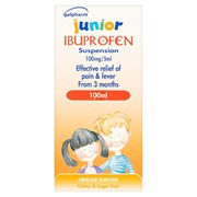 Galpharm Junior Ibuprofen Suspension 100ml (GJI)