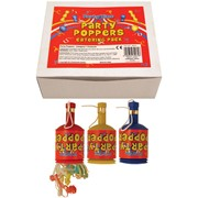 Henbrandt Party Poppers 72s (X39072)